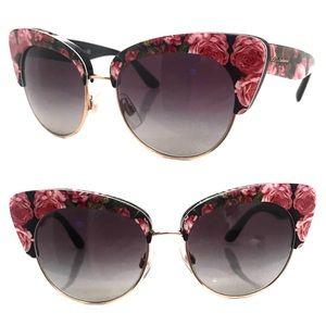 Dolce Gabbana Rose Cat Eye Sunglasses